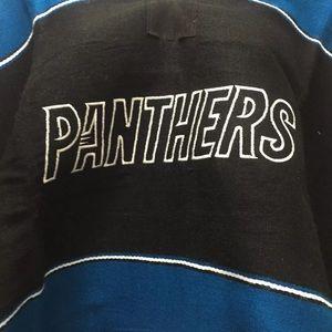 Carolina Panthers Handmade Blanket Robe Poncho